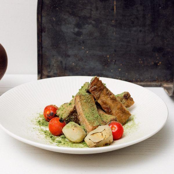Фото Ребра з печі з соусом із квасу хлібного та материнки в 100 років тому вперед